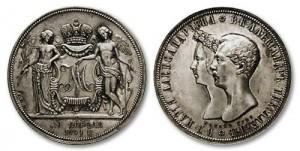 Свадебный рубль 1841