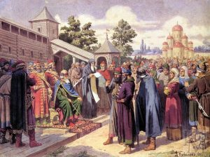CHtenie_narodu_Russkoy_Pravdy_v_prisutstvii_velikogo_knyazya_YAroslava-e1504711486183