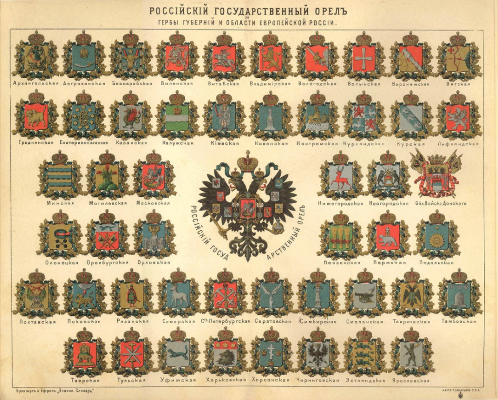 Гербы губерний Российской империи